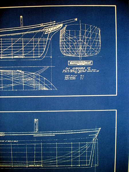 Clipper ships half hulls blueprint plans set of 2 full for Half size set of plans